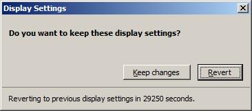 Displaysettings